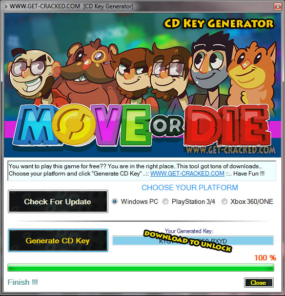 Move or Die CD Key Generator 2016