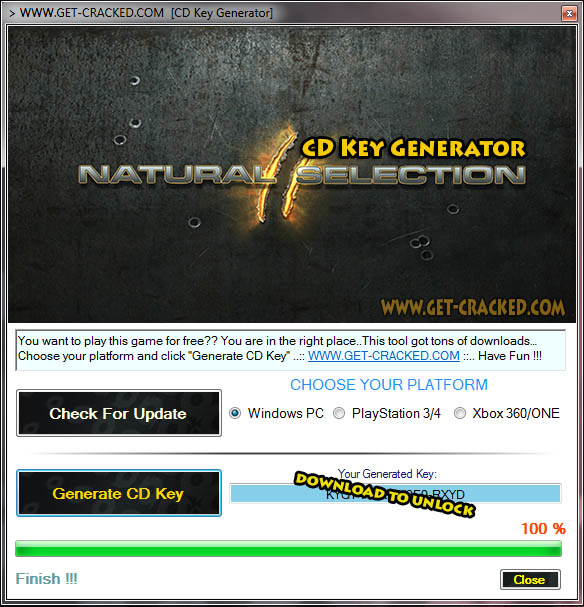 Natural Selection 2 cd key giveaway
