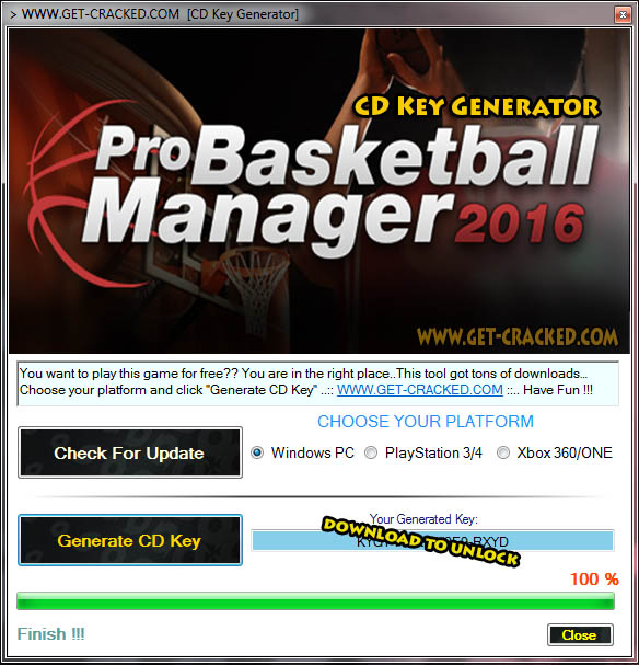 Pro Basketball Manager 2016 cd key giveaway