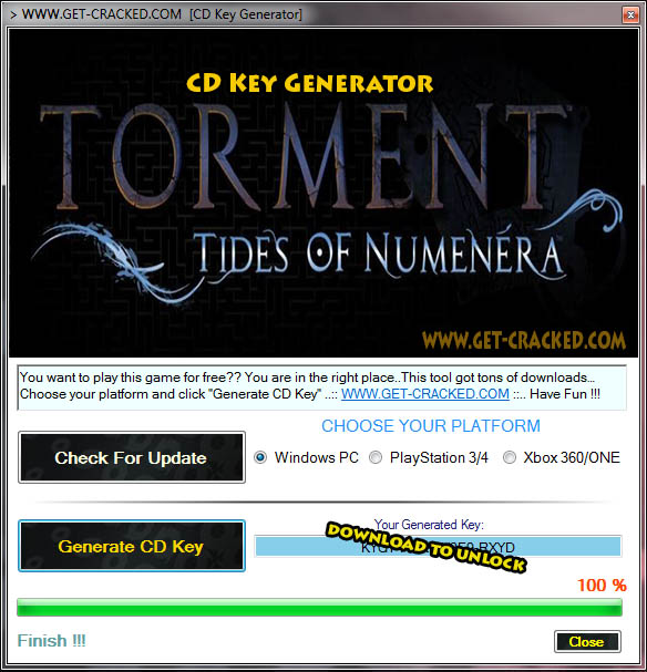 Torment Tides of Numenera CD Key giveaway