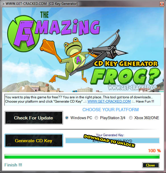 Amazing Frog cd key giveaway