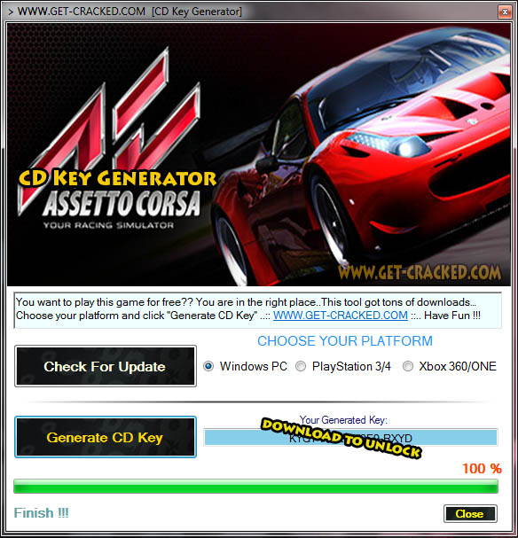 Assetto Corsa cd key giveaway