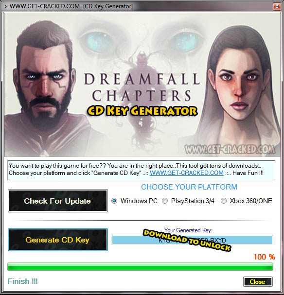 Dreamfall Chapters cd key giveaway