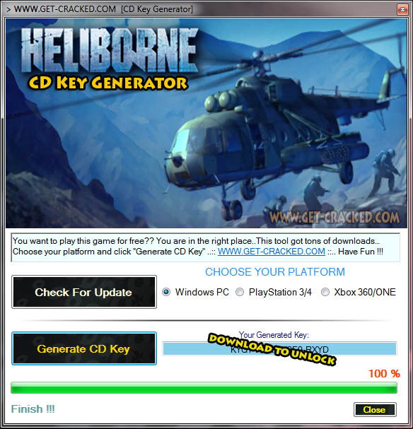 Heliborne CD Key Generator 2016