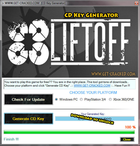 Liftoff cd key giveaway