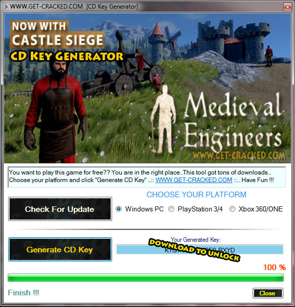 Medieval Engineers cd key giveaway