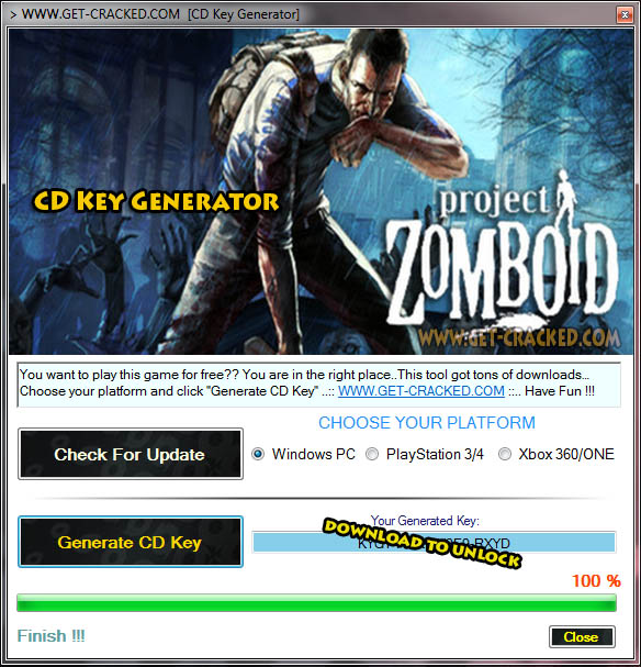 Giveaway clé de Project Zomboid cd