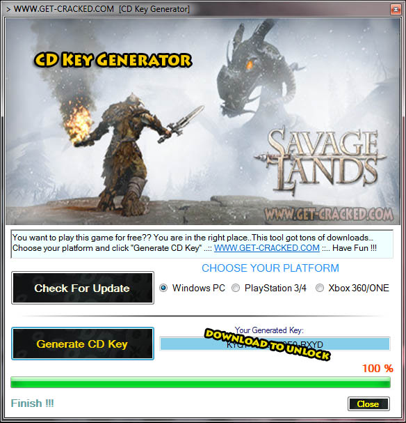 Savage Lands CD Key Generator 2016