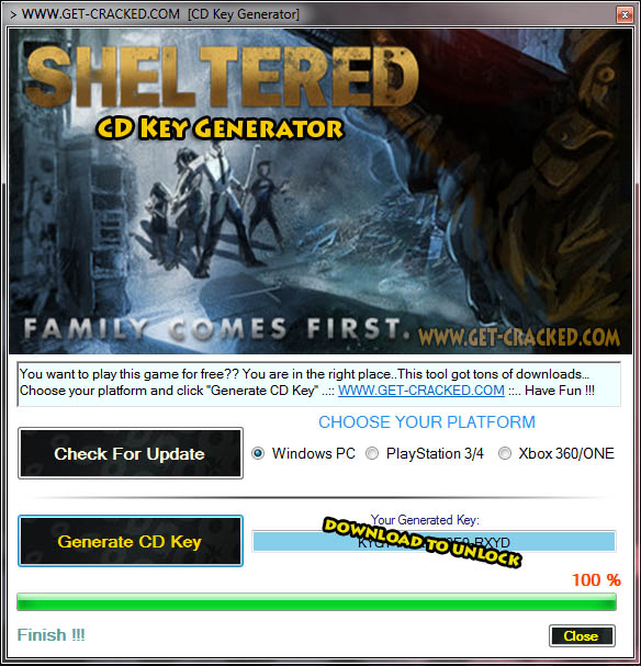 Sheltered cd key giveaway