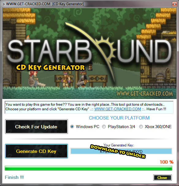 Starbound cd ključ podijela