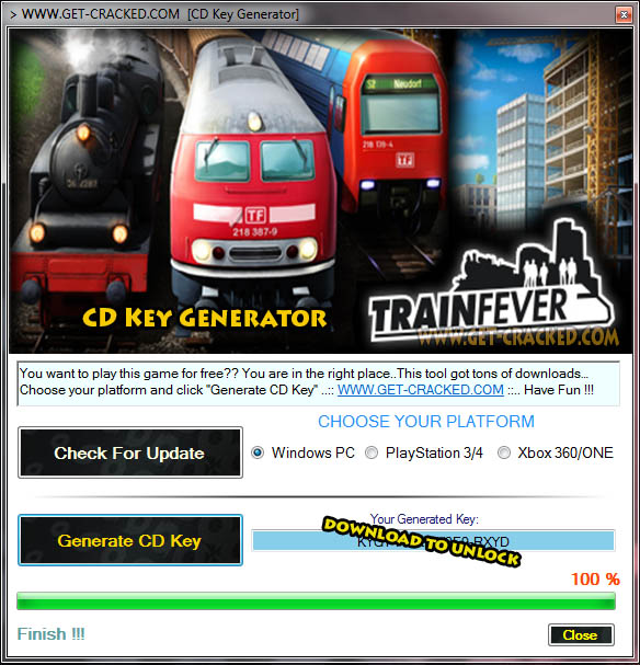 Train Fever cd key giveaway