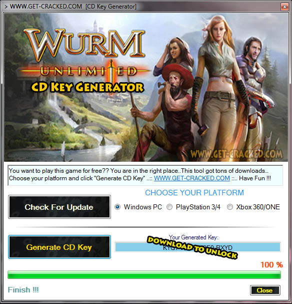 Wurm Unlimited cd key giveaway