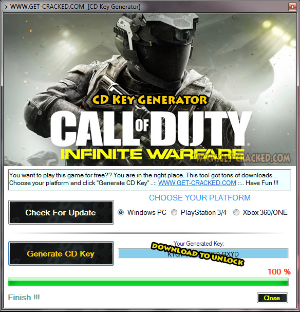 how to get Call of Duty Infinite Warfare free cd key