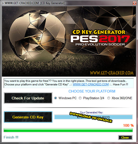 Pro Evolution Soccer 2017 cd key giveaway