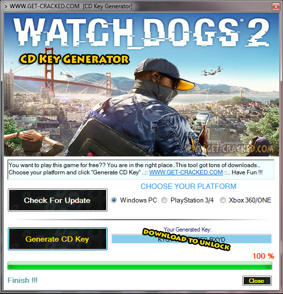 Watch Dogs 2 cd key hack