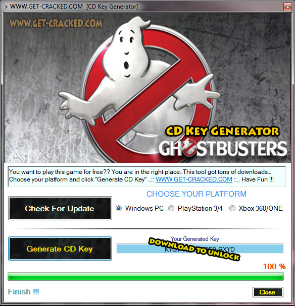 Ghostbusters cd nyckel