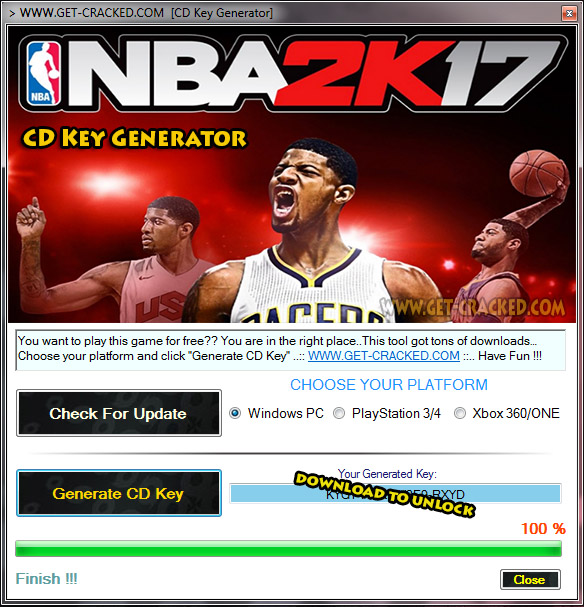 NBA 2K 17 cd nøkkel