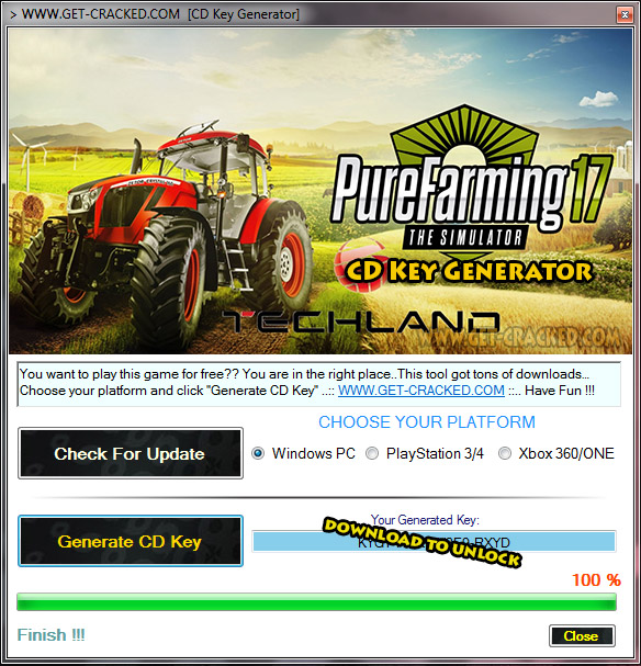 Pure Farming 17 CD Key giveaway