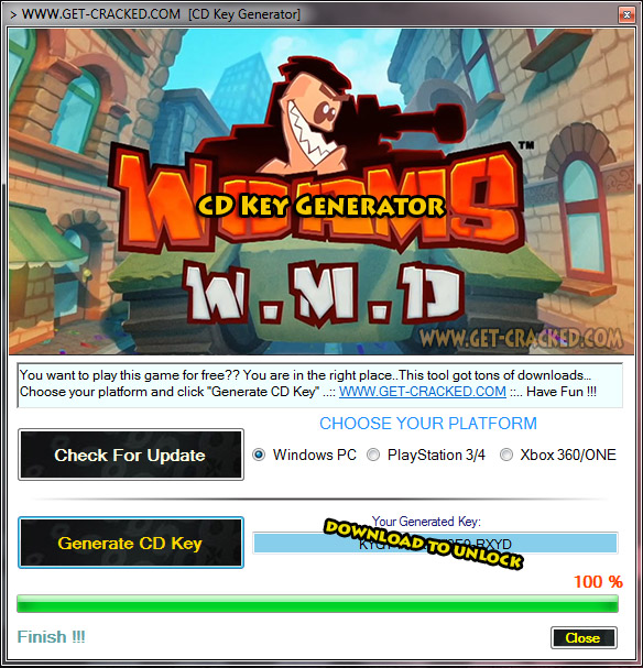 Worms W.M.D giveaway chave de cd