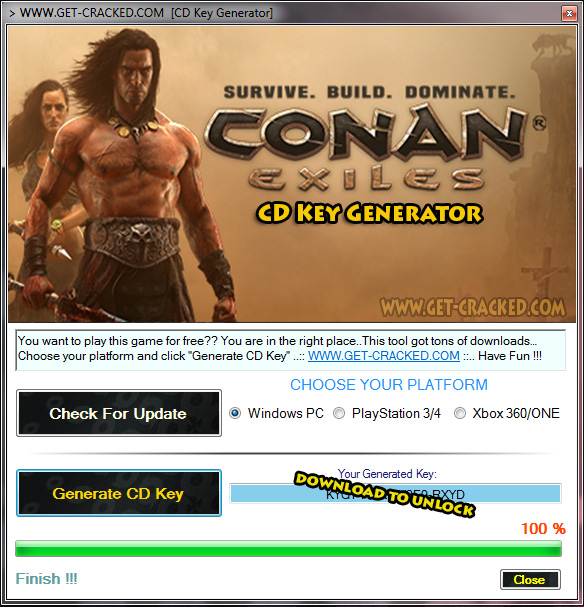 Conan Exiles cd key generator tool screenshot
