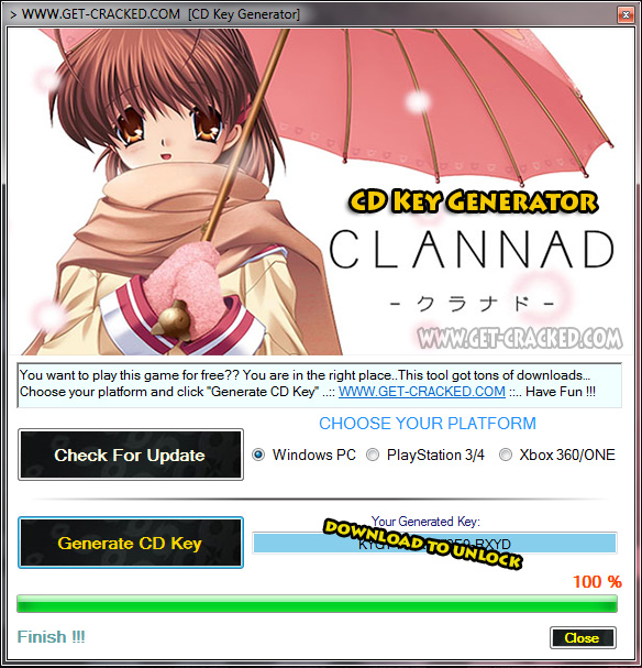 CLANNAD cd key giveaway tool