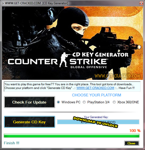 Counter Strike Global ecasulayo ukhiye cd Giveaway 2017