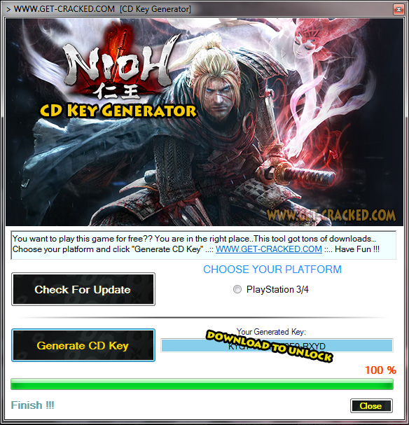 NiOh cd key giveaway